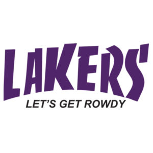 Lakers Let's Get Rowdy Design