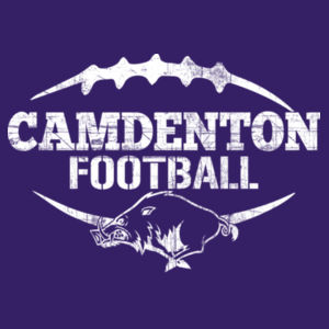 YOUTH Camdenton Football Distressed White Design