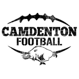 Camdenton Football Distressed Blsck Design