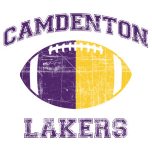 Camdenton Lakers Dual Color Football Design
