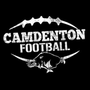 Camdenton Football Distressed White Design