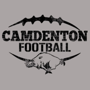Camdenton Football Distressed Black Design