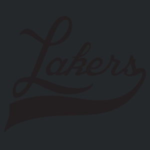 YOUTH Lakers Swoosh White Design