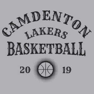 Camdenton Lakers Basketball - Toddler 3/4-Sleeve Baseball T-Shirt Design