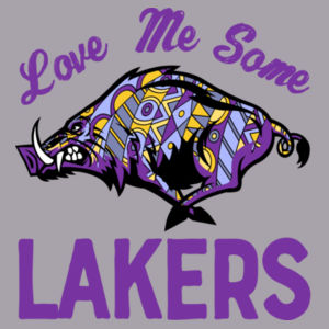 Love Me Some Lakers - Infant Triblend Short Sleeve T-Shirt Design