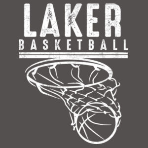Camdenton Lakers Basketball - Youth Three-Quarter Sleeve Baseball Tee Design