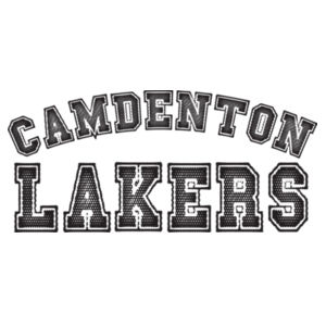 Camdenton Lakers on Pocket Repeat on Back Print Design
