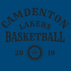 Camdenton Lakers Basketball - Infant Triblend Short-Sleeve One-Piece Design