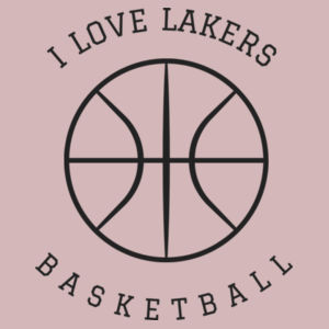 I Love Lakers Basketball - Infant Triblend Short-Sleeve One-Piece Design