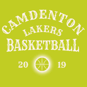 Camdenton Lakers Basketball - Ladies' Softstyle®  4.5 oz. Long-Sleeve T-Shirt Design