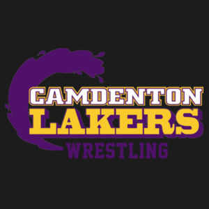 Camdenton Laker Wrestling - ® Ladies PosiCharge ® Tri Blend Wicking 1/4 Zip Pullover Design