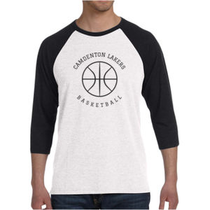 Camdenton Lakers Basketball - LAKER Unisex 3/4-Sleeve Baseball T-Shirt Thumbnail