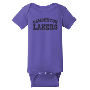 Camdenton Lakers - ™ Infant Short Sleeve Baby Rib Bodysuit Thumbnail