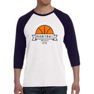 Camdenton Lakers Basketball - Unisex 3/4-Sleeve Baseball T-Shirt Thumbnail