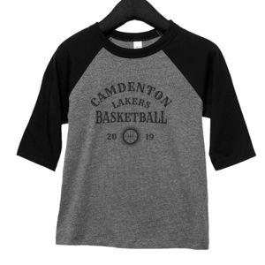 Camdenton Lakers Basketball - Toddler 3/4-Sleeve Baseball T-Shirt Thumbnail