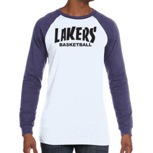 Lakers Basketball - Men's Jersey Long-Sleeve Baseball T-Shirt Thumbnail