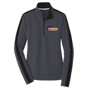 Camdenton Lakers - Ladies Sport Wick ® Textured Colorblock 1/4 Zip Pullover Thumbnail