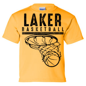 Camdenton Lakers Basketball - Ultra Cotton Youth T-Shirt Thumbnail
